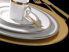 Deshoulieres Athos gold & platinum Soup Tureen With Lid