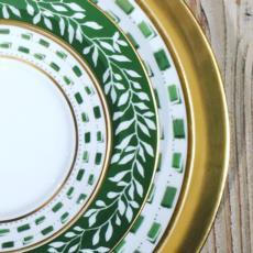 Royal Limoges Recamier - La Bocca green Breakfast saucer