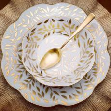 Royal Limoges Nymphea - Olivier Gold Oval platter medium