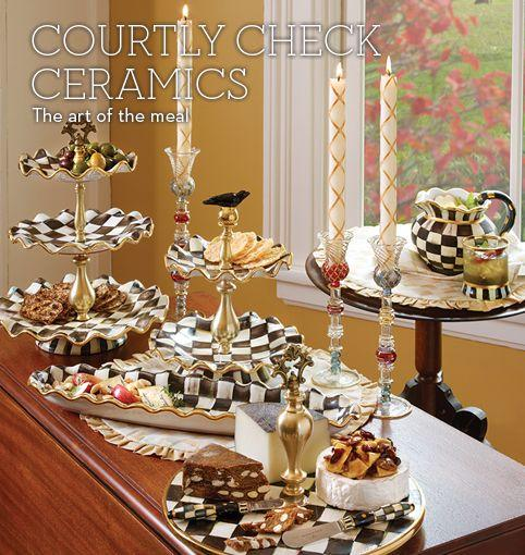MacKenzie-Childs Courtly Check Ceramics products