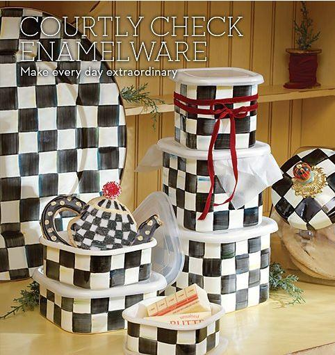 Courtly Check Enamelware collection with 42 products
