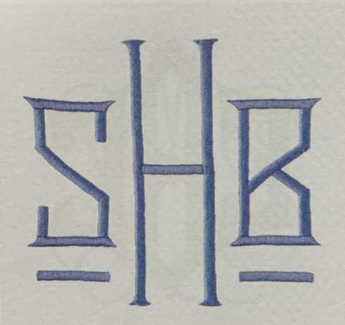 Matouk  Monogram H262 Embroidery 5.5 $25.00