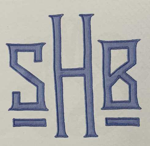 Monogram H262 Applique collection with 7 products