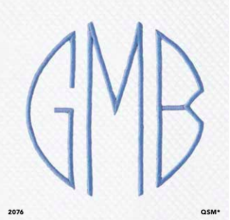 Monogram 2076 Embroidery collection with 4 products