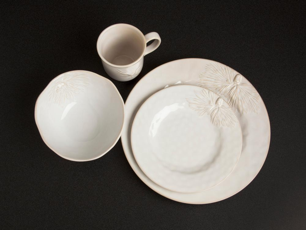 About Pinecone Dinnerware and Serveware » & Carmel Ceramica ~ Pinecone Dinnerware and Serveware ~ Dinner Plate ...