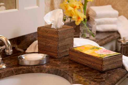 Lifestyle image 1 for Handwoven Bathroom Accessories