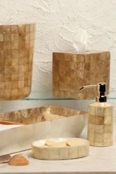 Bath Collection - Champagne Capiz collection