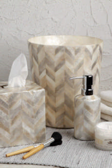 Bath Collection - Herringbone Capiz collection