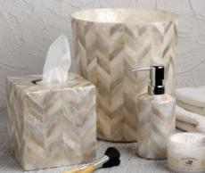Organic Bath - Herringbone Capiz collection