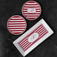 Caskata  Beach Towel Stripe - Red
