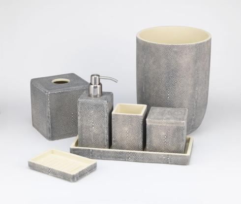 Bathroom Collections - Shagreen Beige Grey collection with 5 products