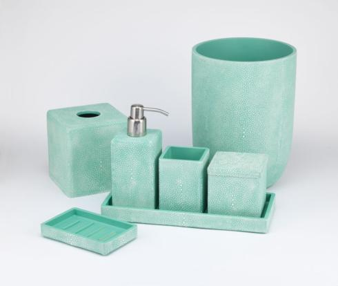 Bathroom Collections - Shagreen Turquoise collection with 6 products