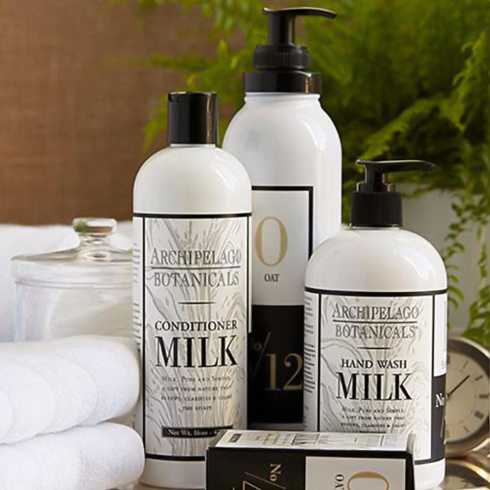 Milk collection with 6 products