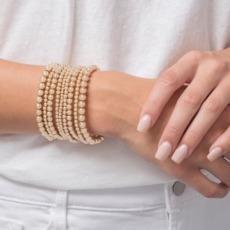 38 Classic Sincerity 4mm Bead Bracelet-Gold