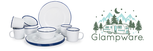 Glampware collection with 14 products