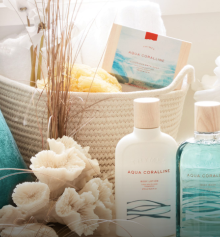 Bath & Body - Aqua Coralline collection with 8 products