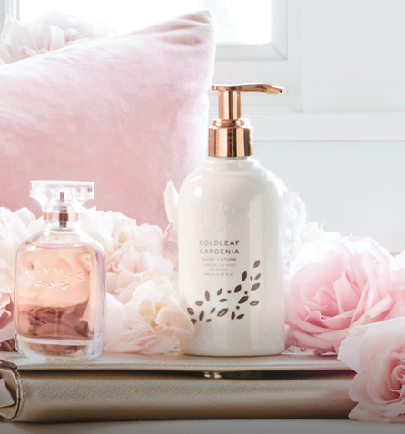 Bath & Body - Goldleaf Gardenia collection with 9 products