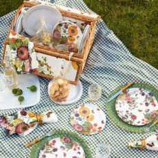 Field Of Flowers Picnic Basket