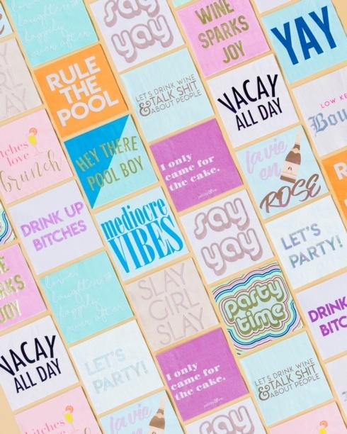 Witty Cocktail Napkins collection with 23 products