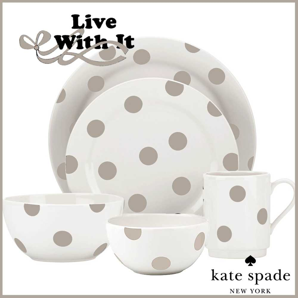 About Deco Dot Beige Dinnerware »  sc 1 st  Live With It by Lora Hobbs & Kate Spade Deco Dot Beige Dinnerware products