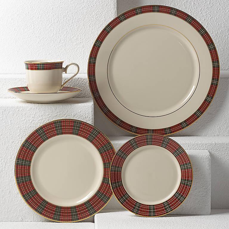 Sale lenox winter greetings plaid salad plate price 2500 in about winter greetings plaid m4hsunfo