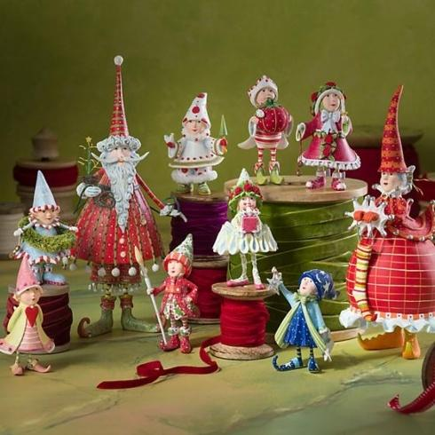 Dash Away Elf Ornaments collection with 10 products