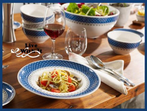 Casale Blu Dinnerware collection with 21 products