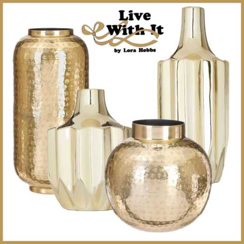 Golden Vases collection with 4 products