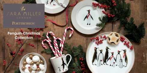 Sara Miller Penguin Christmas Collection collection with 5 products