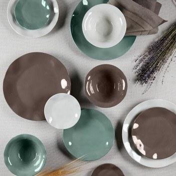 Ruffle Earth Hues Melamine collection with 12 products