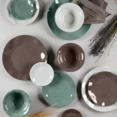 Ruffle Earth Hues Melamine collection