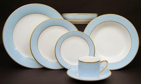 Pickard China  ColorBurst Blue-Gold Dinner Plate $67.00