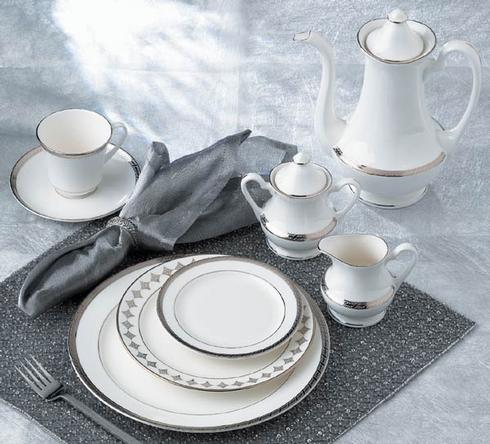$295.00 High Point Platinum 5 Piece Place Setting