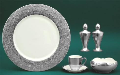 $225.00 Metropolitan Platinum Ivory Charger Plate