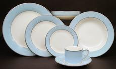 Pickard China ColorBurst Blue-Platinum Butter Plate