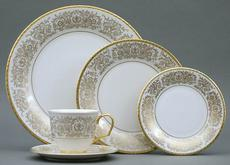 Tiara Gold 5 Piece Place Setting