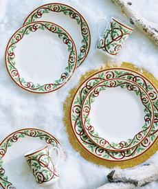Winter Festival Ivory 5 Piece Place Setting