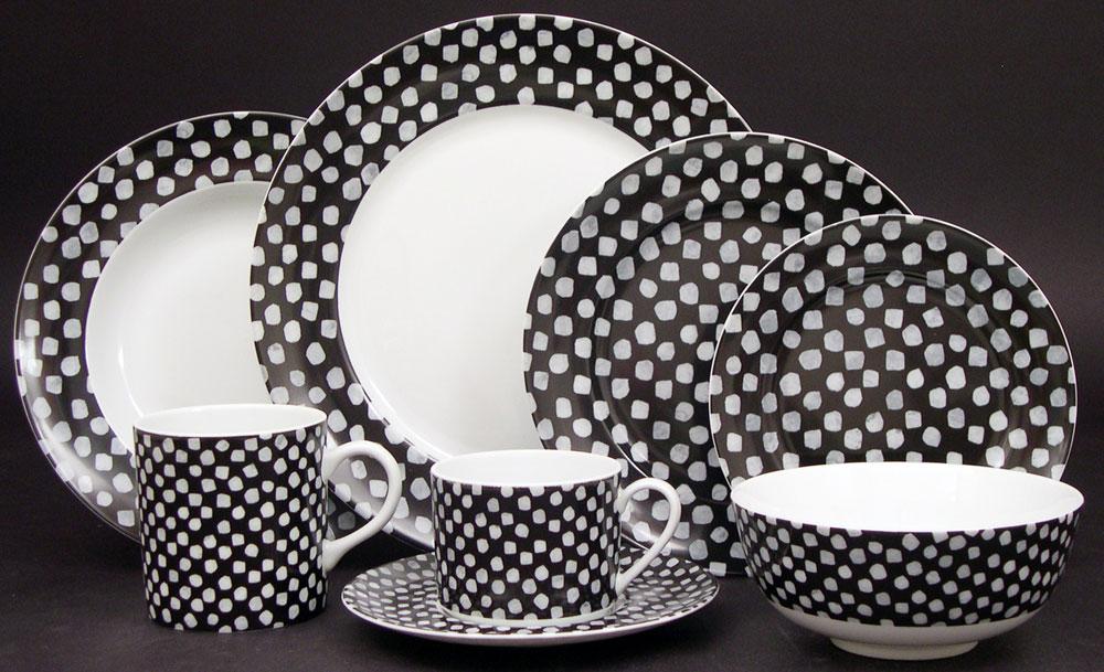 Lifestyle image 1 for Kelly Wearstler Dots White on Black