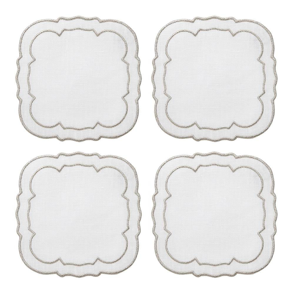Lifestyle image 1 for Linho Scalloped Square Coasters