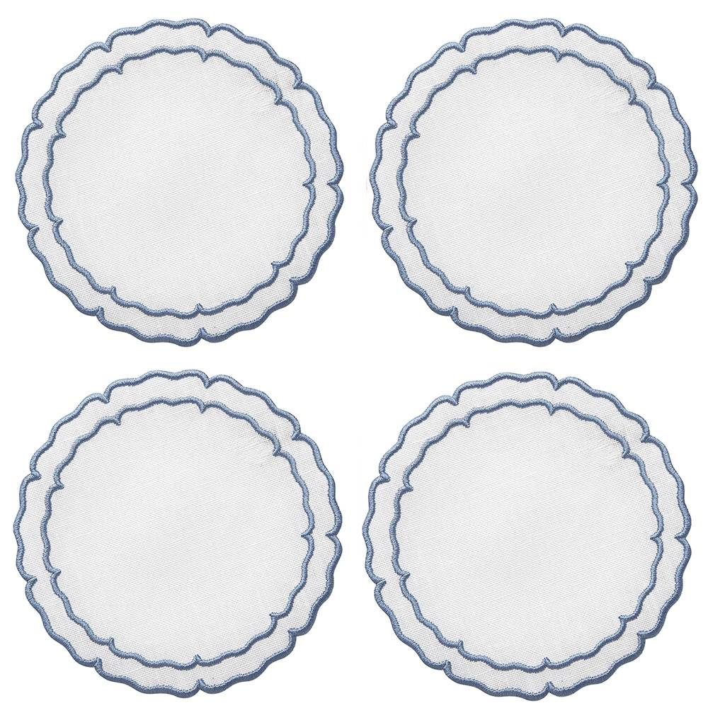 Lifestyle image 1 for Linho Scalloped Round Coasters