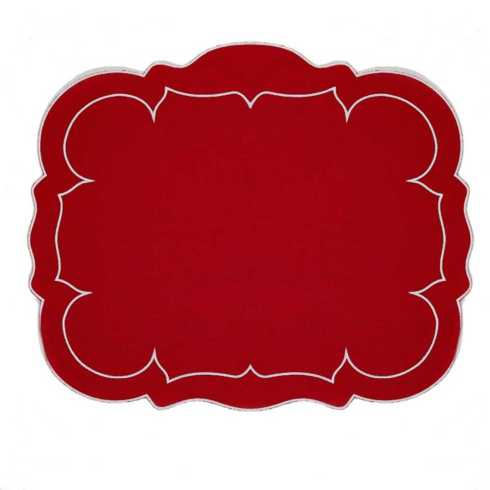 Lifestyle image 2 for Linho Scalloped Rectangular Placemats