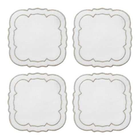Linho Scalloped Square Coasters collection with 10 products