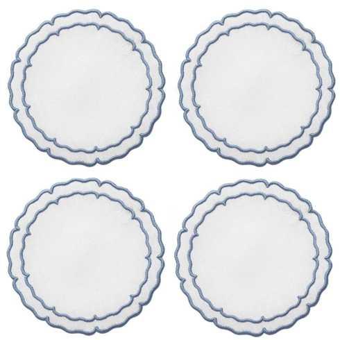 Lifestyle image 1 for Linho Scalloped Round Coasters