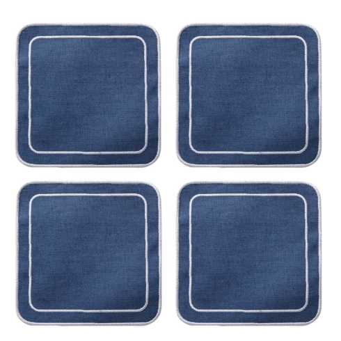 Lifestyle image 1 for Linho Simple Square Coasters