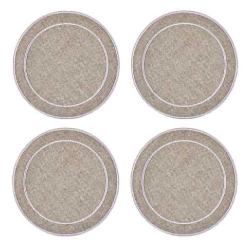 Linho Simple Round Coasters collection with 9 products