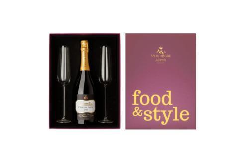 Pack Sparkling Wine (2 Flutes Ornaments + 1 Bottle Sparkling Wine)