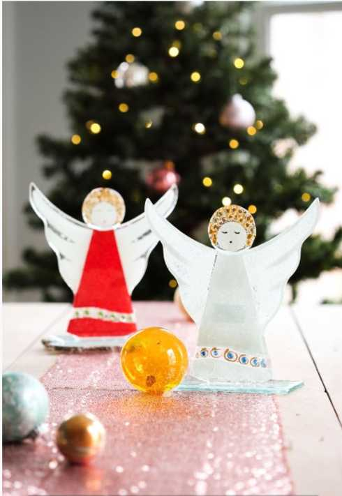 Glass Tree and Angels collection with 6 products