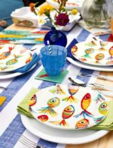 VIETRI Pesci Colorati Salad Server Set