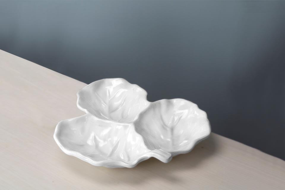 md Beatriz Ball VIDA Lettuce leaf platter