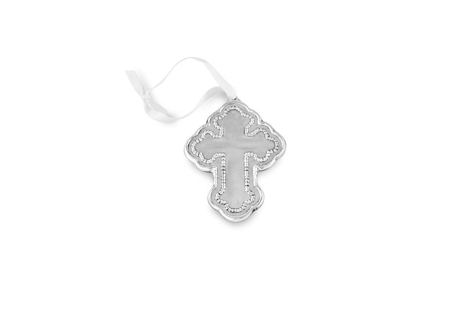 Pearl Cross Ornament